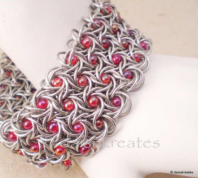 Moorish Rose bracelet with beads by Daisy Kwan