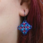 rubber and chainmaille earring