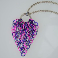 feather mesh peacock chainmaille