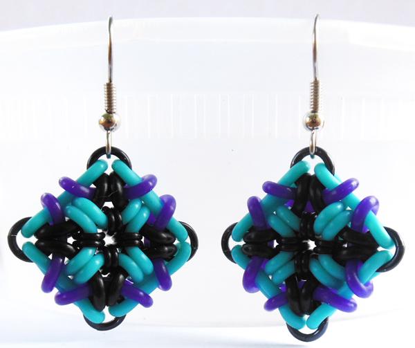 rubbermaille earrings by Rebeca Mojica