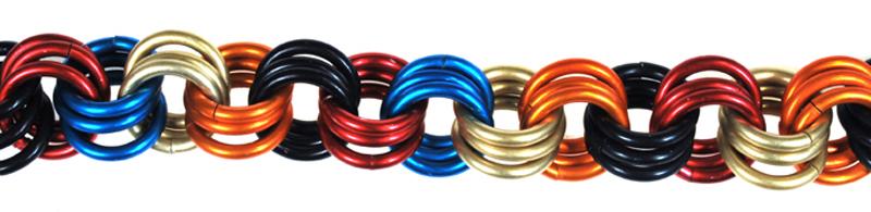 multi-colored 3-in-3 chain