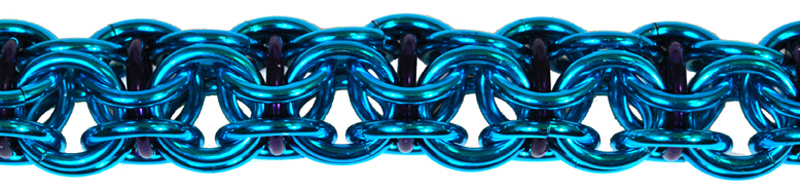 turquoise captive inverted round with alternating purple jump rings