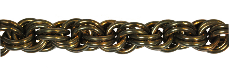 gold anodized aluminum rope weave