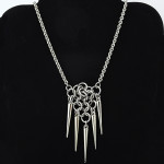 chainmaille mesh spike necklace