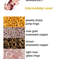 akimbo chainmaille bracelet rose, gold and brown