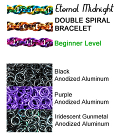 double spiral chain in gothic colors