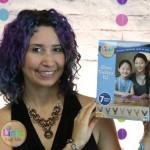 Rebeca Mojica wtih Athena Necklace box by Linkt Craft Kits