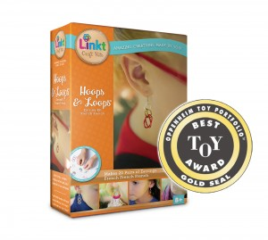 Hoops and Loops Oppenheim Toy Portfolio Gold Seal Award box