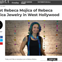 screenshot of Voyage LA interview with chainmaille artist Rebeca Mojica