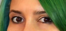 closeup brown eyes with minimal makeup