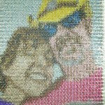 chainmaille inlay of happy couple
