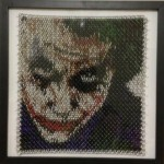 heath ledger as the joker made out of chainmaille