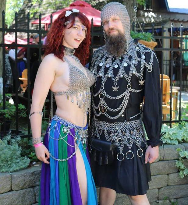 couple-wearing-chainmaille