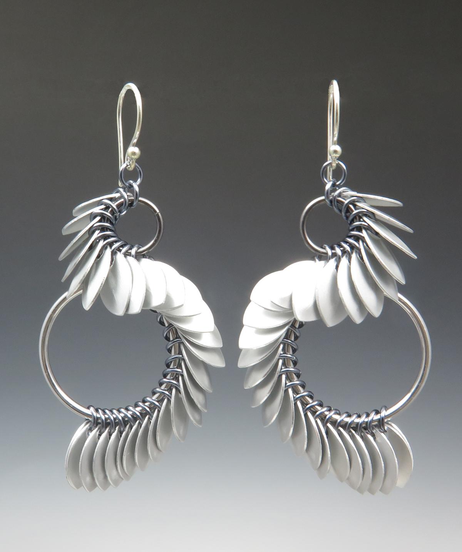 TinyScaleAsymS-Earrings