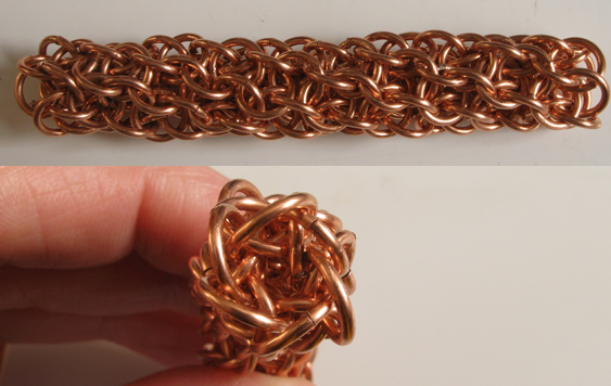 JeanHP3Sheet5IR chainmaille weave in copper