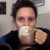rebeca-mojica-drinking-tea