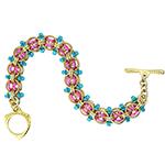 Jewelry Brass Beaded Helm Bracelet