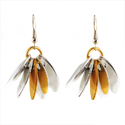 Aluminum Spike Earrings - Gold
