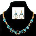 Colorful Orbital Necklae & Earrings