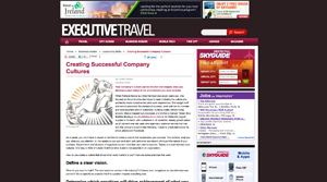 Executive Travel's magazine article