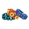 Biomechanical, KIT - Biomechanical - Black w/ Aqua & Cobalt SAVE 20%, rubbermaille biomechanical in bright colors - chainmaille pattern with rubber