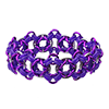 Diamond Cuff, KIT - Diamond Cuff - Aluminum w/ Custom Colors, purple rubber chainmaille bracelet kit