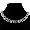 Helm Chain, KIT - Helm Chain Necklace Aluminum, simple steel neck chain in Helm chainmaille weave on black neckform