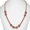 Iris 8, KIT - Iris 8 Necklace - Copper, elegant copper necklace in chainmaille on white neck form