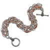 Persianette, KIT - Persianette Bracelet - Aluminum Full Persian w/ custom Rosettes, Perianette Chainmaille Weave in aluminum and copper