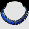 Reversible Scale Necklace, KIT - Reversible Scale Necklace - Blue & Black & ALUM, chainmaille reversible scalemaille necklace in blue and black scales