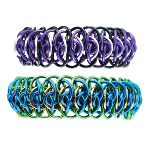 Viperscale 2.0, A. KIT - Viperscale 2.0 - Aluminum w/ Black & Purple SAVE 20%, Viperscale chainmaille bracelet