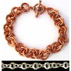 Wiggle (Mobius), KIT - Wiggle Bracelet  - Copper, basic chainmaille weave wiggle mobiused 2-2-2 bracelet in copper