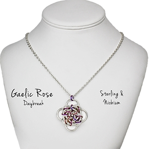 Gaelic Rose Exclusive Kits, KIT - PRE-ORDER - Gaelic Rose Daybreak Pendant Kit - Sterling & Niobium,